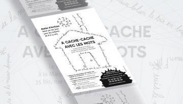 création flyer-association-atelier d'écriture pour enfant